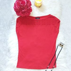 2/ $20 Grace The Perfect Fit Crochet Top Tee Shirt